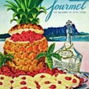 A Hawaiian Scene With Pineapple Slices Poster