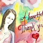 A Heartful Thank You Poster