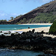 A L O H A  E Ala E Puu Olai Oneloa Big Beach Makena Maui Hawaii Poster