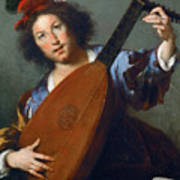 A Lute-player Poster