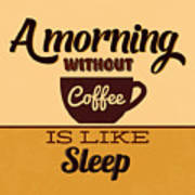 A Morning Without Coffee Is Like Sleep Poster