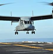 A Mv-22 Osprey Aircraft Prepares Poster
