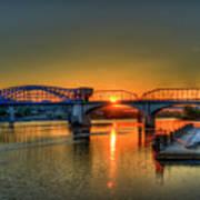 A New Day Chattanooga Sunrise Market Street Bridge Poster