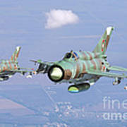 A Pair Of Bulgarian Air Force Mig-21bis Poster
