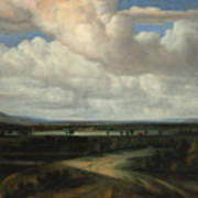 A Panoramic Landscape With A Country Estate Poster