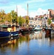 A Peaceful Canal Scene - The Netherlands L B Poster
