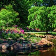 A Peaceful Feeling At The Azalea Pond Poster