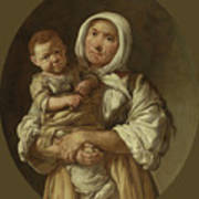 A Peasant Mother With Her Child In Her Arms Poster
