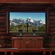 A Pew With A View Poster