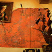 A Pirates Map Room Poster