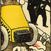 A Police Car Runs Over A Little Girl Poster by Felix Edouard Vallotton