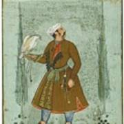 A Portrait Of A Nobleman Holding A Falcon Poster