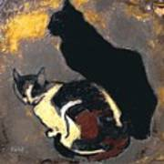 A Replica Of The Cats By Theophile Alexandre Steinlen Poster
