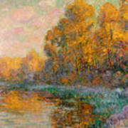 A River In Autumn Poster