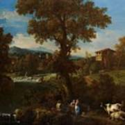 A River Landscape Poster