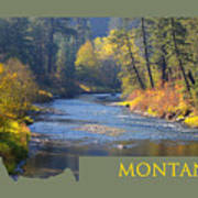 A River Runs Thru Autumn Poster
