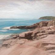 A Coastal Scene Poster
