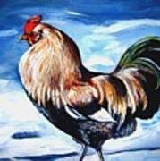 A Rooster In Maine Poster