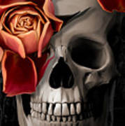 A Rose On The Skull Poster