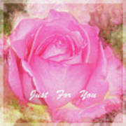 Enjoy A Rose Just For You Poster