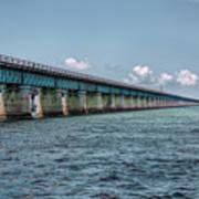 A Section Of The Original Seven Mile Bridge Poster