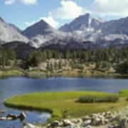 A Sierra Mountain Lake In Summer Poster