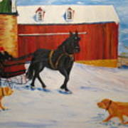 A Snowy Sleigh Ride Poster
