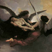 A Soul Brought To Heaven Poster by Adolphe William Bouguereau
