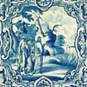 A South-german Faience Stove Tile Second Half 18th Century, By Adam Asar, No 18a Poster