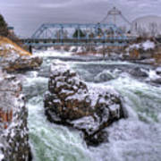 A Spokane Falls Winter Poster