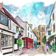 A Street In Ripon Poster