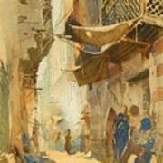 A Street Scene In Cairo Poster