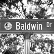 Ba - A Street Sign Named Baldwin Poster