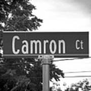 Ca - A Street Sign Named Camron Poster