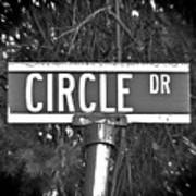 Ci - A Street Sign Named Circle Poster
