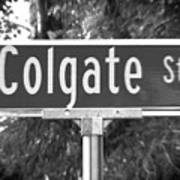 Co - A Street Sign Named Colgate Poster