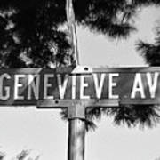 Ge - A Street Sign Named Genevieve Poster