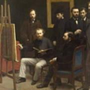 A Studio At Les Batignolles 1870 Poster