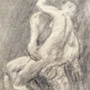 A Study Of Rodin's Kiss In His Studio Poster