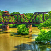 A Time Gone By Railroad Bridge Lumber City Georgia Poster