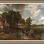 A Tribute To John Constable Catus 1 No.1 - The Hay Wain L A  With Alt. Decorative Ornate Printed Fr  Poster