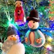 A Trio Of Snowmen Poster
