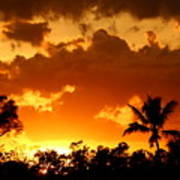 A Tropical Sunset Poster