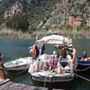 A Turkish Fishing Boat On The Dalyan River Poster