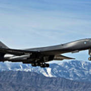 A U.s. Air Force B-1b Lancer Departs Poster by Stocktrek Images
