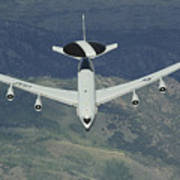 A U.s. Air Force E-3 Sentry Airborne Poster
