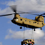 A U.s. Army Ch-47 Chinook Helicopter Poster