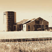 A Very Old Barn And Silo Poster