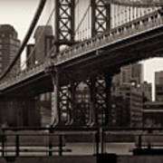A View From The Bridge - Manhattan Bridge New York Poster