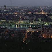 A View Of Lyon Between The Pont De La Poster by James L. Stanfield